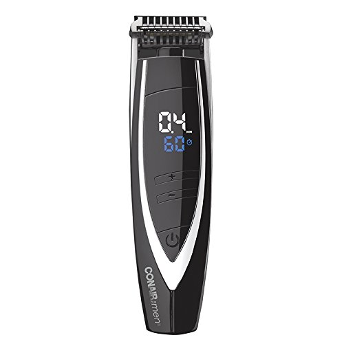 Conair Man Super Stubble Ultimate Flexhead Trimmer; Pivoting Flex Head; 15 Digital Settings ranging from 0.4mm to 5.0mm; Black - Wet/Dry + Lithium Ion Battery Powered