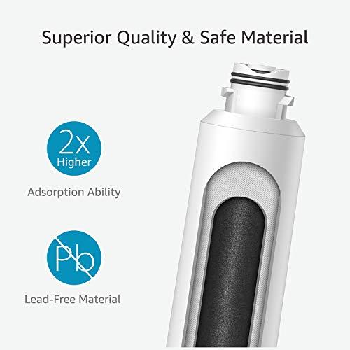 Waterdrop NSF 53&42 Certified DA29-00020B Replacement Refrigerator Water Filter, Compatible with Samsung DA29-00020B, DA29-00020A, HAF-CIN/EXP, 46-9101, Advanced, 2 Pack by Waterdrop (Image #4)