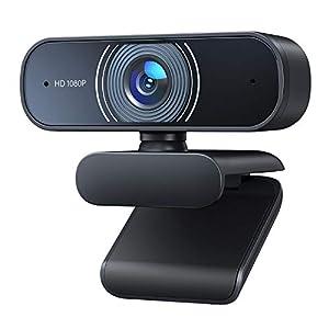 Flashandfocus.com 41sZx-xmenL._SS300_ 1080P Webcam, Desktop Camera with Dual Microphones, for PC/Mac Book/Laptop. Suitable for Windows, MacOS, NetWare, Linux…