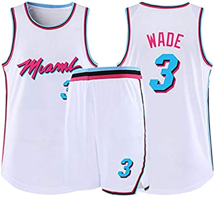 free shipping a6ee4 15b19 Dwyane Tyrone Wade No. 3 Miami Heat City Basketball Jersey ...