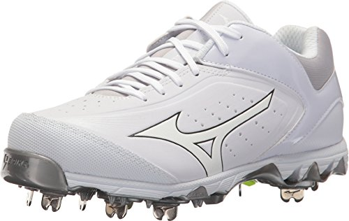 Mizuno (MIZD9) Women's Swift 5 Fastpitch Cleat Softball Shoe, White/White, 10 B US - Mizuno Womens 9 Spike