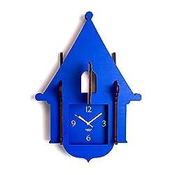 WOLF 333805 Jigsaw Cuckoo Clock, Blue