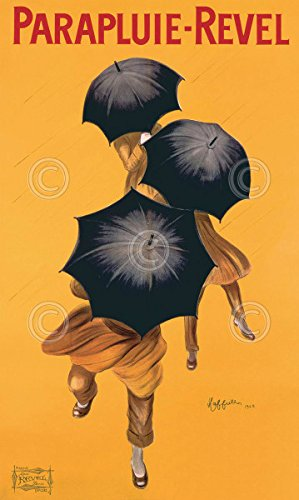 Parapluie Revel by Leonetto Cappiello Art Print Vintage Umbrella Poster 11x14
