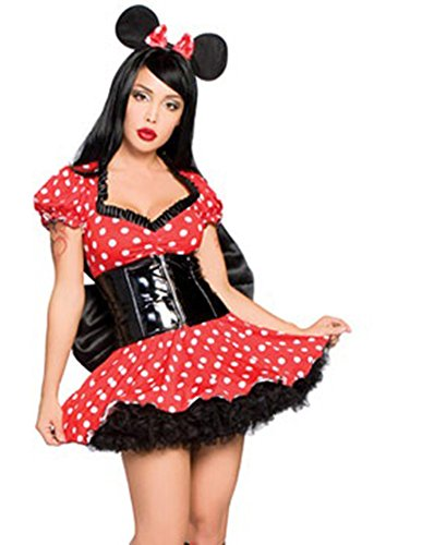 [Three Piece Geisha's Mouse Costume] (Sexy Geisha Costumes)