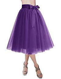 Knee Length Tulle Skirt Tutu Skirt Evening Party Gown...