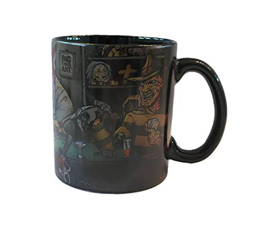 Big Chris Art - Slasher Ceramic Mug - Large Collectible Horror Movie Parody Coffee Mug - Novelty Coffee Cup