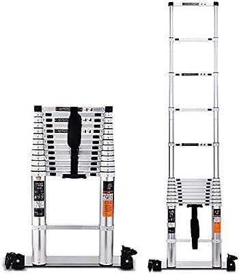 HGFDSA Escalera Multifunción Escalera Telescópica De Aluminio Protección contra Pellizcos con Dedos Carga Máxima 150 Kg (330 LB) para Interiores Y Exteriores: Amazon.es: Hogar