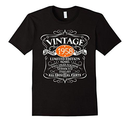Vintage 60th Birthday Funny Tshirt 1958 All Original Parts