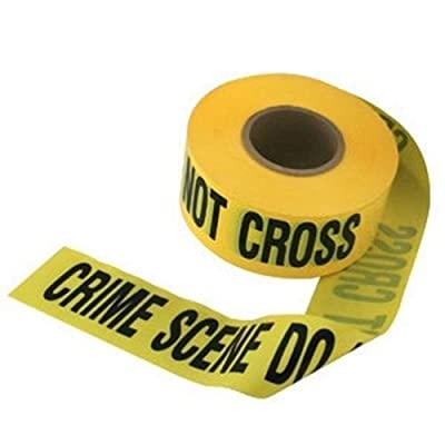 "crime scene do not cross"" barricade movie prop tape ~ 50 FEET LONG!: Toys & Games,"""