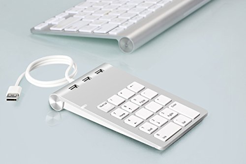 Cateck Aluminum Finish USB Numeric Keypad with USB Hub Combo for iMac, MacBooks, PCs and Laptops by Cateck (Image #1)