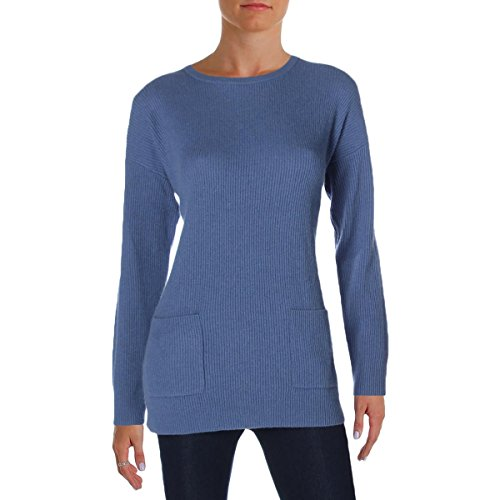 Lauren Ralph Lauren Womens Cashmere Ribbed Pullover Sweater Blue L by Lauren by Ralph Lauren