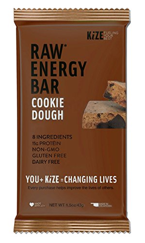 Kize Raw Energy Bar, Cookie Dough, 10 - Recipe Cookie Dough