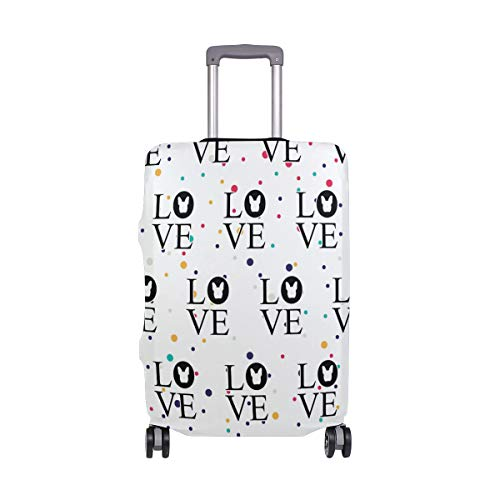 Bulldog Love Travel Luggage Cover - Suitcase Protector HLive Spandex Dust Proof Covers with Zipper, Fits 18-32 inch by HLive