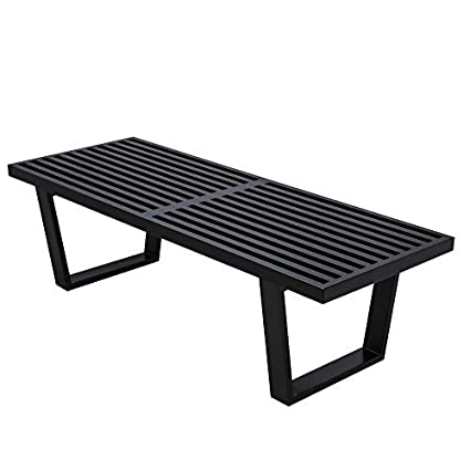 Remarkable Emorden Furniture Nelson Platform Bench Rubber Hardwood Top For Smart Superior Strength Simple Assembly 6 Feet 3 Slat Theyellowbook Wood Chair Design Ideas Theyellowbookinfo