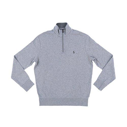 Polo Ralph Lauren Men's Quarter Zip Sweater (X-Small, Andover Heather 1)