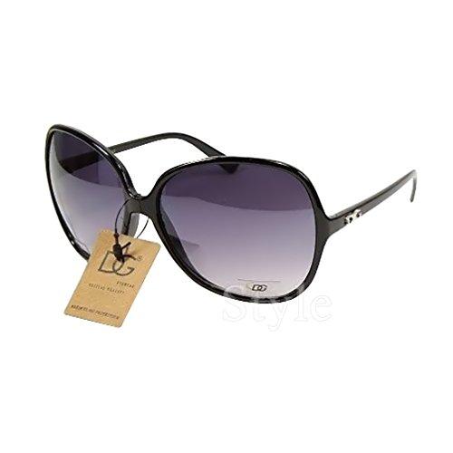 DG Eyewear à Lunettes de Soleil Femme Noir - Saison 2018 - La Mode et UV400 Protection (UVA & UVB) - Nouvelle 2018 Collection (Modele: DG Classique)