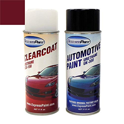 ExpressPaint Aerosol - Automotive Touch-up Paint for Scion tC - Black Cherry Pearl Clearcoat 3P2 - Color + Clearcoat Package