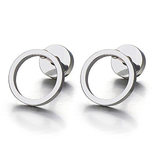 Circle Screw Earrings Women Cheater