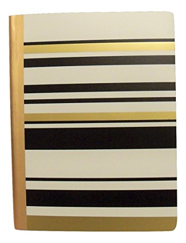Carolina Pad Studio C College Ruled Foil Cover Composition Book ~ Gold Digger (Elegant Stripes; 7.5