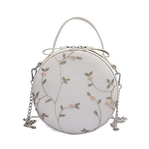 Tout Vert bandoulière Fleurs Femme Blanc à Sacs AllhqFashion fourre Cuir Sacs PU FBUFBC182309 tnZqSwPU