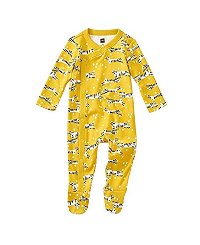 (Tea Collection Footed Romper, 3-6 Months, Tiger Tiptoes)
