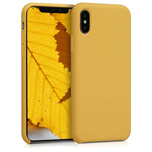 Honey Yellow Case - kwmobile TPU Silicone Case for Apple iPhone X - Soft Flexible Rubber Protective Cover - Honey Yellow