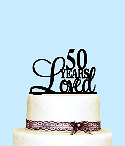 Decoración para tarta de 50 años, decoración para tarta de ...