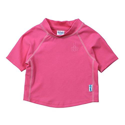 i play Kids & Baby Short Sleeve Rashguard Shirt, Hot Pink, 18mo
