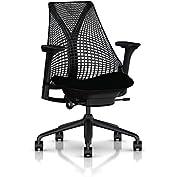 Herman Miller Sayl Task Chair: Tilt Limiter - Adj Seat Depth - Fully Adj Arms - Standard Carpet Casters - Black...