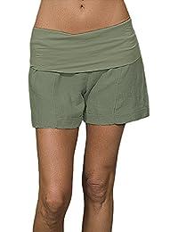 Linen Fold Over Shorts