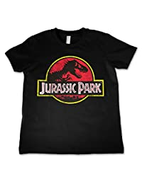 Officially Licensed Jurassic Park Distressed Logo Unisex Kids T-Shirt Ages 3-12 Years