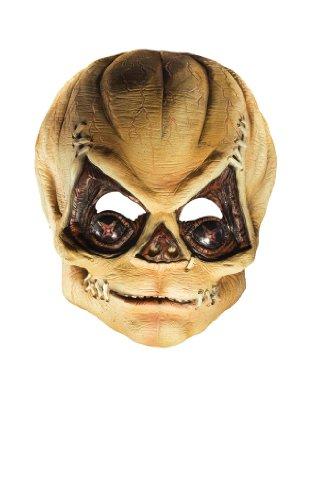 Rubie's Costume Trick R' Treat Latex Pumpkinhead Mask, Orange, One Size ()