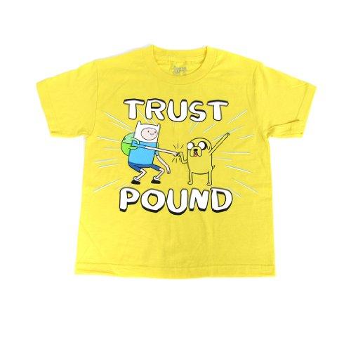Adventure Time Finn Jake Trust Pound Yellow Childrens T-Shirt M
