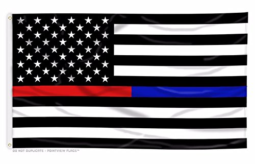 TrendyLuz Flags Thin Blue and Red Line USA American Flag for Police Law Enforcement Firefighters Emergency Rescue EMT EMS Paramedics 3x5 Feet Printed Flag with Grommets by