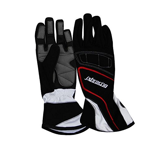 jxhracing G001HA Racing gloves-Black-Large ()