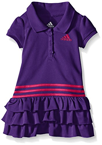 adidas Little Girls' Active Polo Dress, Purple, 5