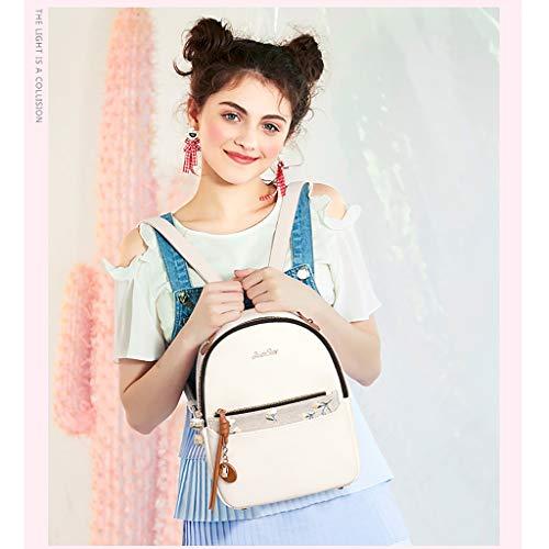 Capacité à Sac Grande Mode Doux Sac Personnalité Sac Carreaux De BandoulièRe Mini backpack Voyage Lady éTudiant Dames à Loisirs Dos à La PU fRHFHqwt