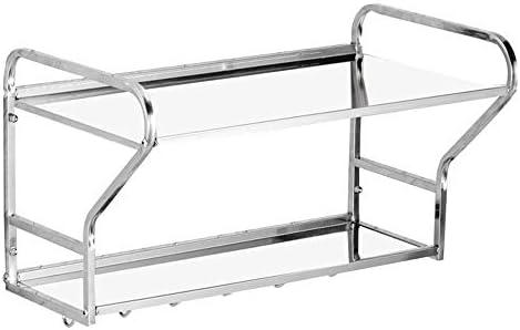 レンジ台 ウォールマウントブラケット電子レンジ304ステンレス鋼電子レンジラックオーブンラックキッチンストレージキッチンカウンターホルダー(パンチ取り付け) (Color : Silver, Size : 54X21X32CM)