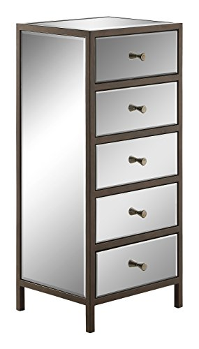 OSP Designs Marquis Vertical Cabinet, Mirrored by OSP Designs