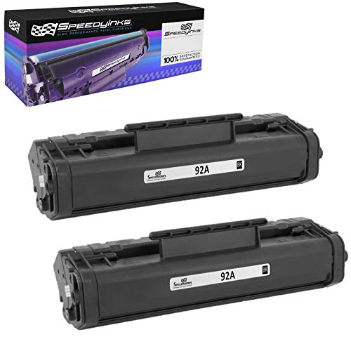 Speedy Inks - 2PK Remanufactured Replacement for HP 92A / HP92A / C4092A Black Laser Toner Cartridge for use in HP Laserjet 1100, 1100a, 1100ase, 1100xi, 1100se, 1100axi, 3200, 3200m, -