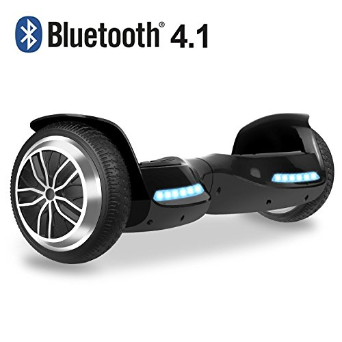 Hoverboard Two-wheel Self-balancing Scooter- OTTO UL2272 Certificated with Bluetooth Speaker 6.5'' All-terrian Aluminum Alloy Wheels,350W Dual Motor 225lbs Max Weight, Black