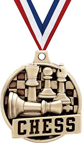 Crown Awardチェスメダル 1.5インチ ゴールドチェストーナメント賞 メダル プライム B07GK2ZFF1  50
