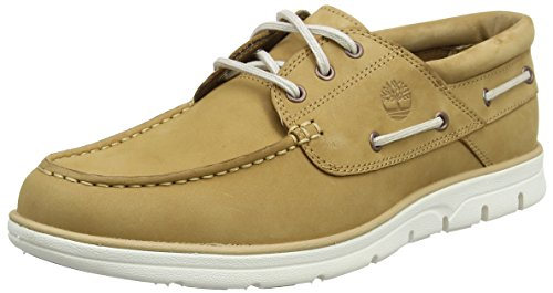 Timberland Herren Bradstreet 3 Eyebrown Pull Up Bootsschuhe Braun (Iced Coffee Nubuck)