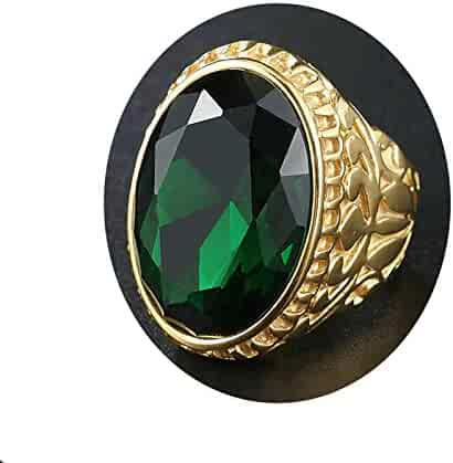 Crystalcraftindia 925 Sterling Silver Green Amethyst Gemstone Jewelry Rings Size 7 US 5.18 g