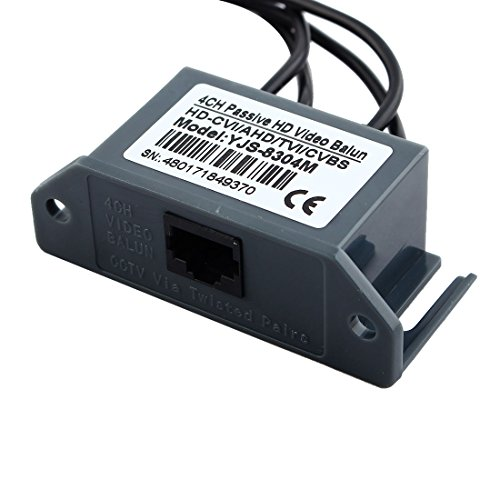 uxcell 4 Channel Video ( BNC ) to UTP ( RJ45 ) Video Balun