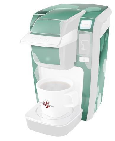Bokeh Hexシーフォームグリーン – デカールスタイルビニールスキンKeurig k10 / k15 Mini Plusコーヒーメーカー( Keurigに含まれません   B0181DE2RE
