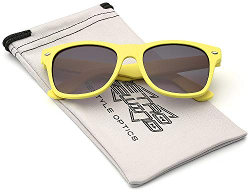 Kids Comfortable Classic Sunglasses for Boys and Girls | Toddler Preschool Grade School Children AGE 3-12 Years ()