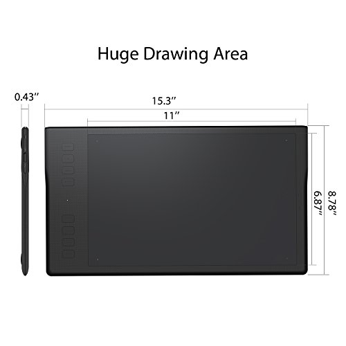 Huion INSPIROY Q11K Wireless Graphics Drawing Tablet 11 x 6.87 inches Digital Pen Painting Tablet with 8192 Levels of Pressure, Pen Holder and 8 Express Keys