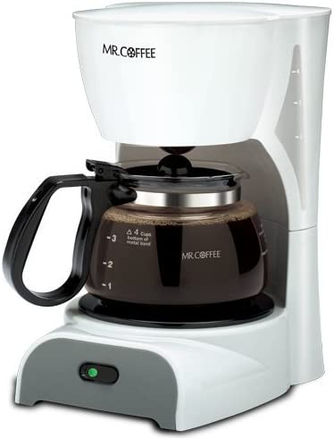 White 4 Cup Coffeemaker