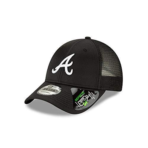 New Era Atlanta Braves Repreve Recycled Fabric 9FORTY Adjustable Trucker Hat/Cap -